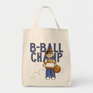 Camisetas y regalos del campeón del baloncesto bolsas de mano