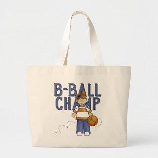 Camisetas y regalos del campeón del baloncesto bolsa