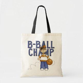Camisetas y regalos del campeón del baloncesto bolsa de mano