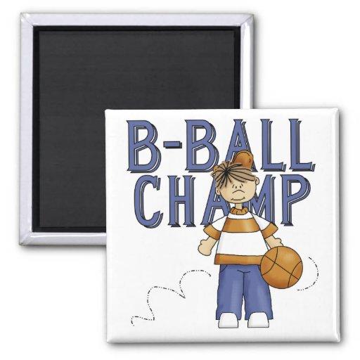 Camisetas y regalos del campeón del baloncesto iman de frigorífico