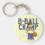 Camisetas y regalos del campeón del baloncesto llavero personalizado