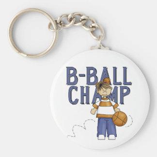 Camisetas y regalos del campeón del baloncesto llavero redondo tipo pin