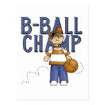 Camisetas y regalos del campeón del baloncesto postal