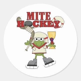 Camisetas y regalos del campeón del hockey del pegatinas redondas