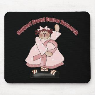 Camisetas y regalos del cáncer de pecho para ella tapetes de ratones
