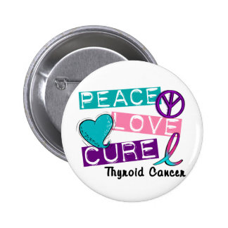 Camisetas y regalos del cáncer de tiroides de la C Pins