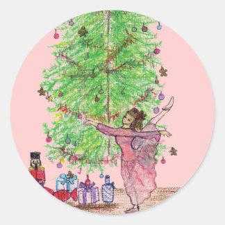 Camisetas y regalos del cascanueces de Clara del Pegatina Redonda