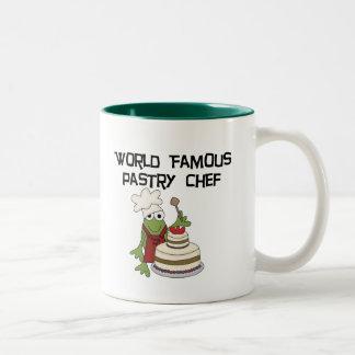 Camisetas y regalos del chef de repostería de la taza de dos tonos