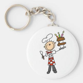 Camisetas y regalos del chef de repostería llavero redondo tipo pin