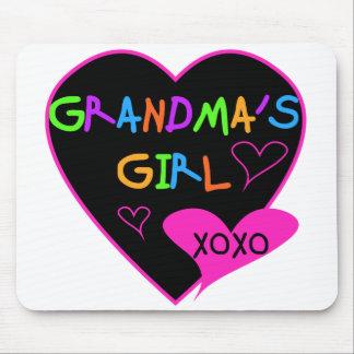 Camisetas y regalos del chica de la abuela del cor tapete de raton