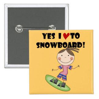 Camisetas y regalos del chica de la snowboard