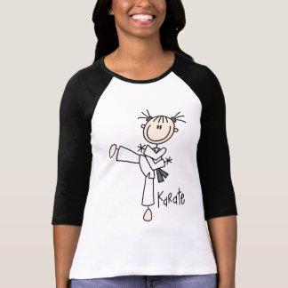 Camisetas y regalos del chica del karate playeras
