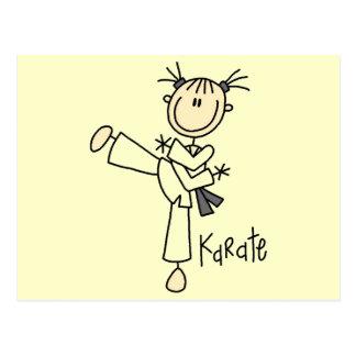 Camisetas y regalos del chica del karate postal