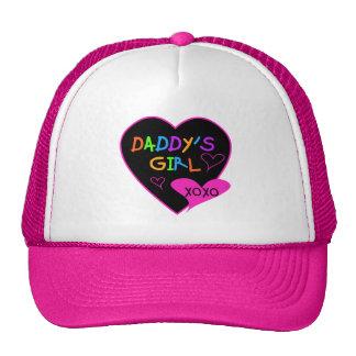 Camisetas y regalos del chica del papá del corazón gorro de camionero