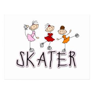Camisetas y regalos del chica del patinador postal