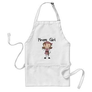 Camisetas y regalos del chica del pirata delantales