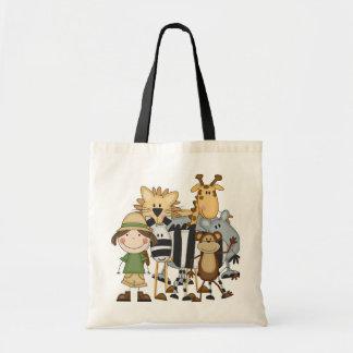 Camisetas y regalos del chica del safari bolsa tela barata