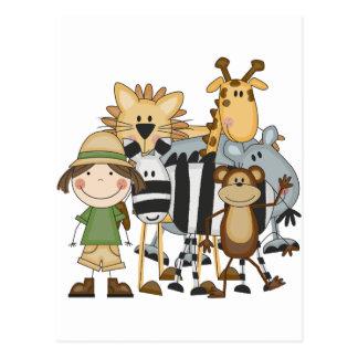 Camisetas y regalos del chica del safari postal