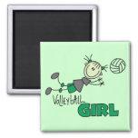 Camisetas y regalos del chica del voleibol iman de nevera