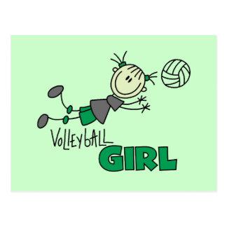 Camisetas y regalos del chica del voleibol tarjeta postal