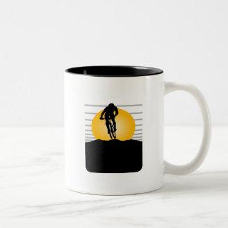 Camisetas y regalos del ciclista taza dos tonos