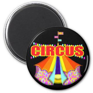 Camisetas y regalos del circo del niño imán redondo 5 cm