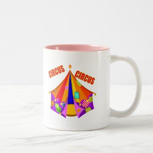 Camisetas y regalos del circo del niño taza dos tonos