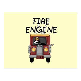 Camisetas y regalos del coche de bomberos postal