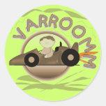 Camisetas y regalos del coche de carreras de Varro Etiqueta Redonda