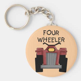 Camisetas y regalos del coche de cuatro ruedas llavero redondo tipo pin