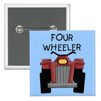 Camisetas y regalos del coche de cuatro ruedas pins