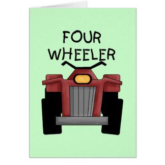 Camisetas y regalos del coche de cuatro ruedas felicitación
