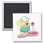 Camisetas y regalos del cocinero del ratón imanes de nevera