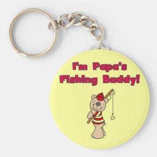 Camisetas y regalos del compinche de la pesca de l llavero redondo tipo pin