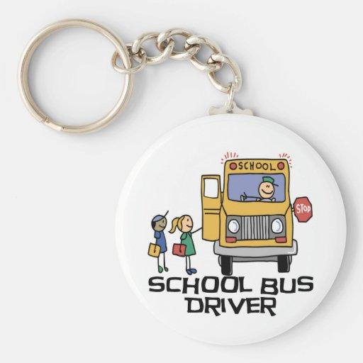 Camisetas y regalos del conductor del autobús esco llavero redondo tipo pin