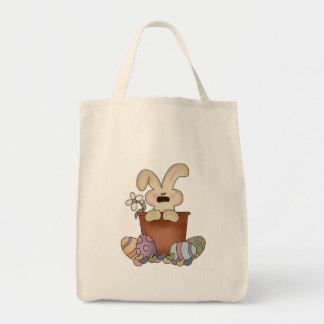 Camisetas y regalos del conejito de pascua bolsa tela para la compra