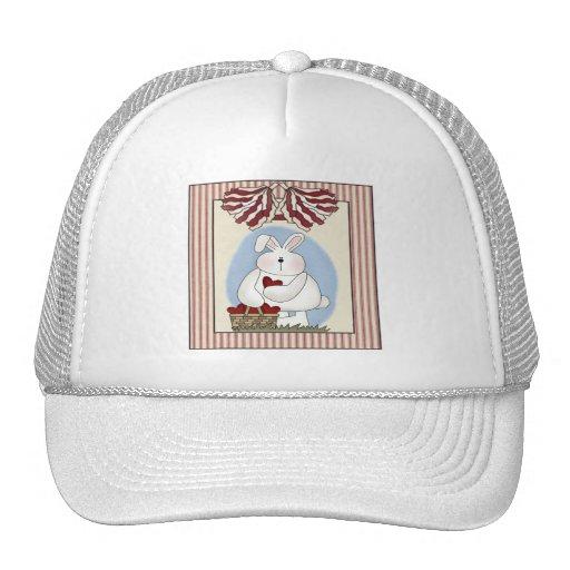 Camisetas y regalos del conejito de pascua gorros bordados
