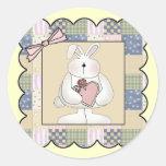 Camisetas y regalos del conejito de pascua pegatinas redondas