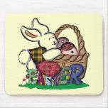 Camisetas y regalos del conejito de pascua alfombrilla de raton