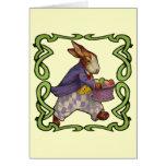 Camisetas y regalos del conejito de pascua tarjetas