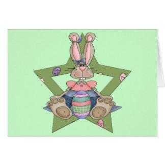 Camisetas y regalos del conejito de pascua tarjeta de felicitación
