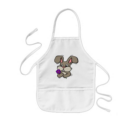 Camisetas y regalos del conejo de conejito de los  delantal infantil