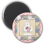 Camisetas y regalos del conejo de conejito de los  imán de nevera