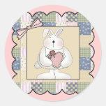 Camisetas y regalos del conejo de conejito de los  pegatina redonda
