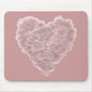 Camisetas y regalos del corazón de la nube de torm alfombrilla de raton