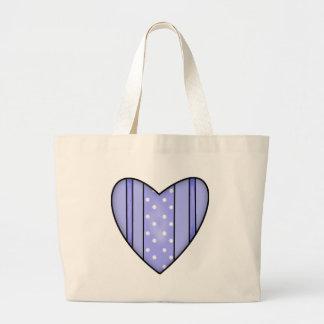 Camisetas y regalos del corazón de la tarjeta del  bolsa tela grande