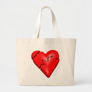 Camisetas y regalos del corazón quebrado bolsas lienzo