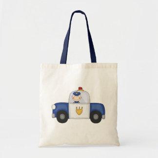 Camisetas y regalos del crucero de la policía bolsa tela barata