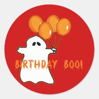 Camisetas y regalos del cumpleaños de Halloween Etiqueta Redonda