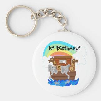 Camisetas y regalos del cumpleaños de la arca de N Llaveros Personalizados